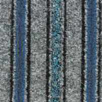 jhs Entrance Matting Collection: Trio Mat - Grey Blue